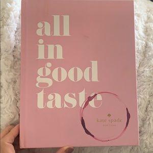 "Kate spade ""all in good taste"" table book"
